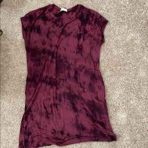 Tie dye T-shirt dress with pockets